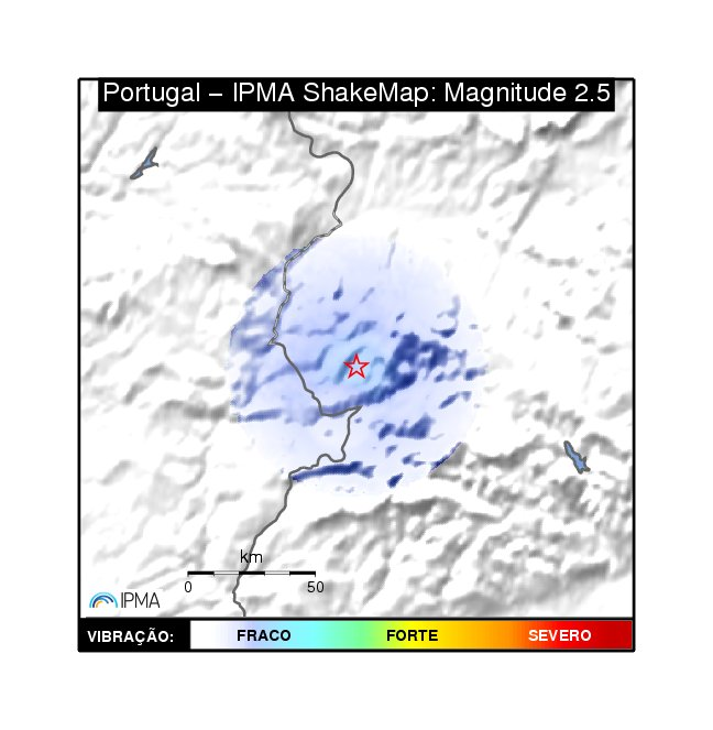 Portugal ShakeMap: Products Available for Download